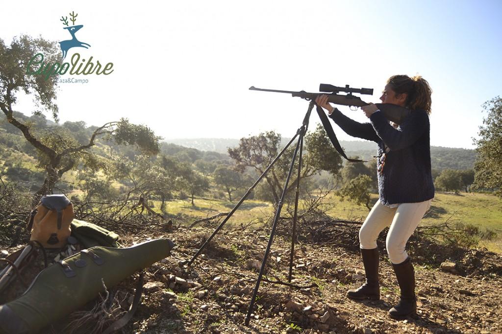 Montería Andaluza: El Puesto, mujeres cazadoras, pilar escribano