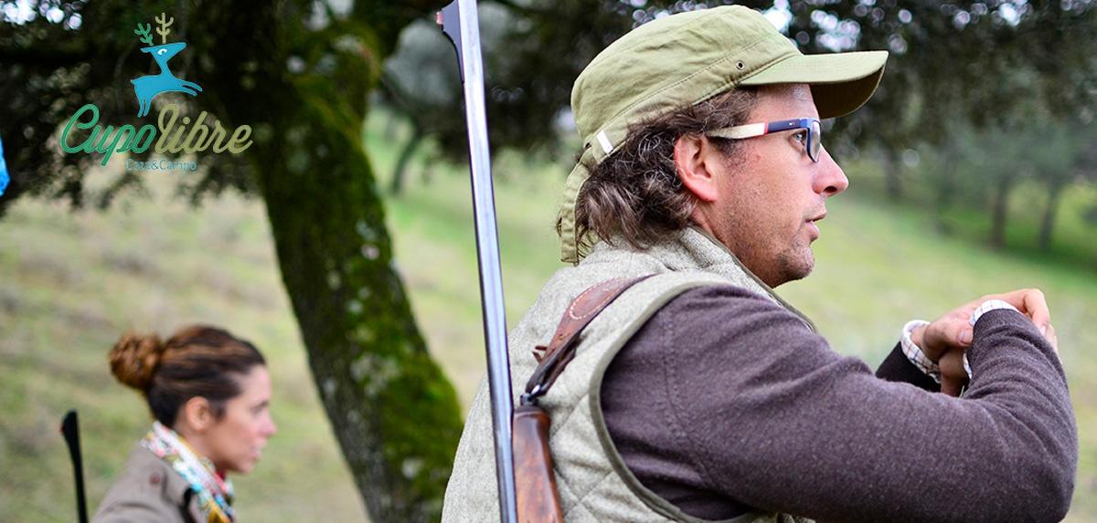Compartiendo la afición a la caza con mi hermano